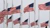 american flags, half staff, washington monument, memorial day