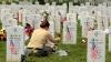 memorial day, flowers, gravesite, iraq war
