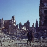 st. lo, france, 1944, ruins, world war II
