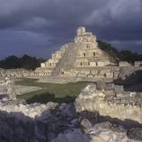 Mexico, Campeche, Edzna, The Great Acropolis exterior