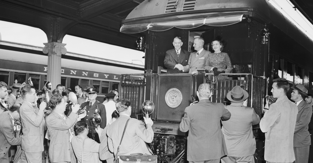 whistle stop tour, president truman, harry s. truman, presidential train