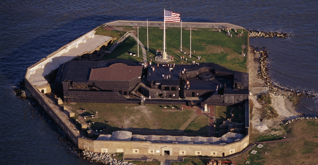 fort sumter, charleston, south carolina, the civil war, first shots of the civil war, 1861