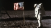 buzz aldrin, astronaut, lunar module, american flag, moon, apollo 11 mission, the space race, neil a. armstrong