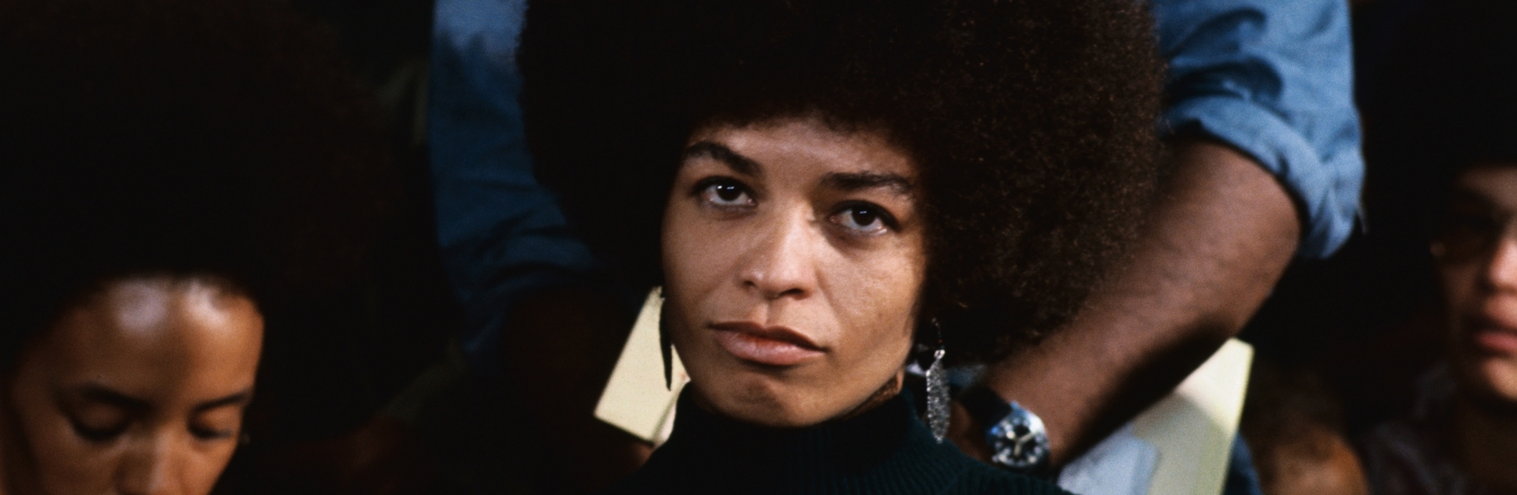 Angela Davis news conference