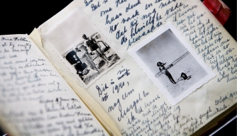 Page spread from Anne Frank's Diary