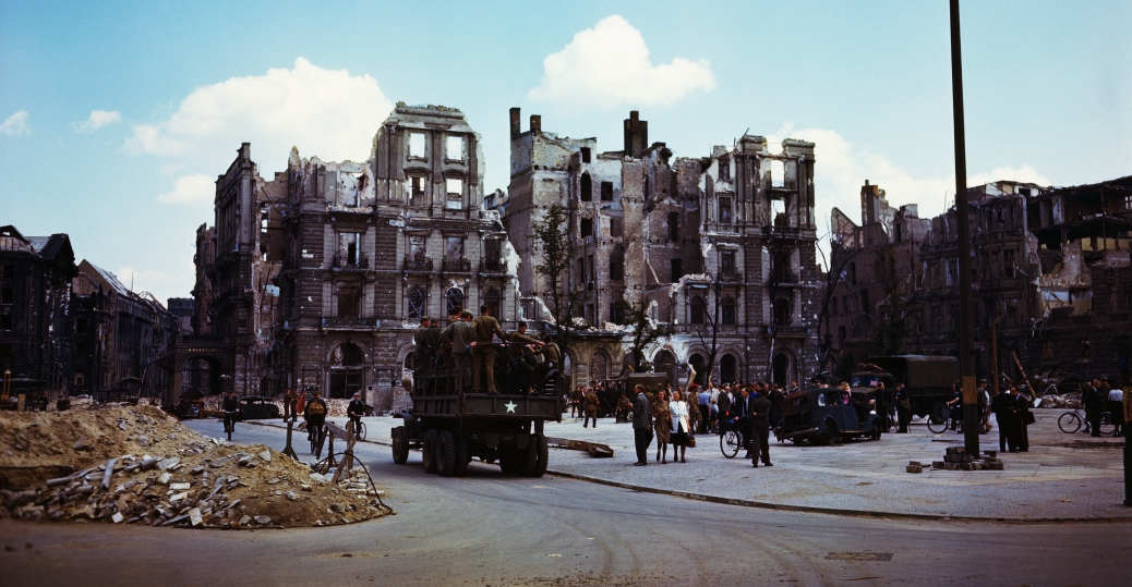 Truck Carrying Troops World War Ii Damage And