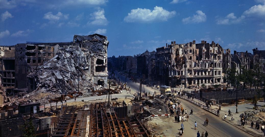 berlin, germany, 1945, bombing damage, world war II, world war II damage