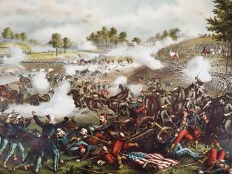 the civil war, battle of bull run, 1861, first battle of bull run, general mcdowell, general beauregard