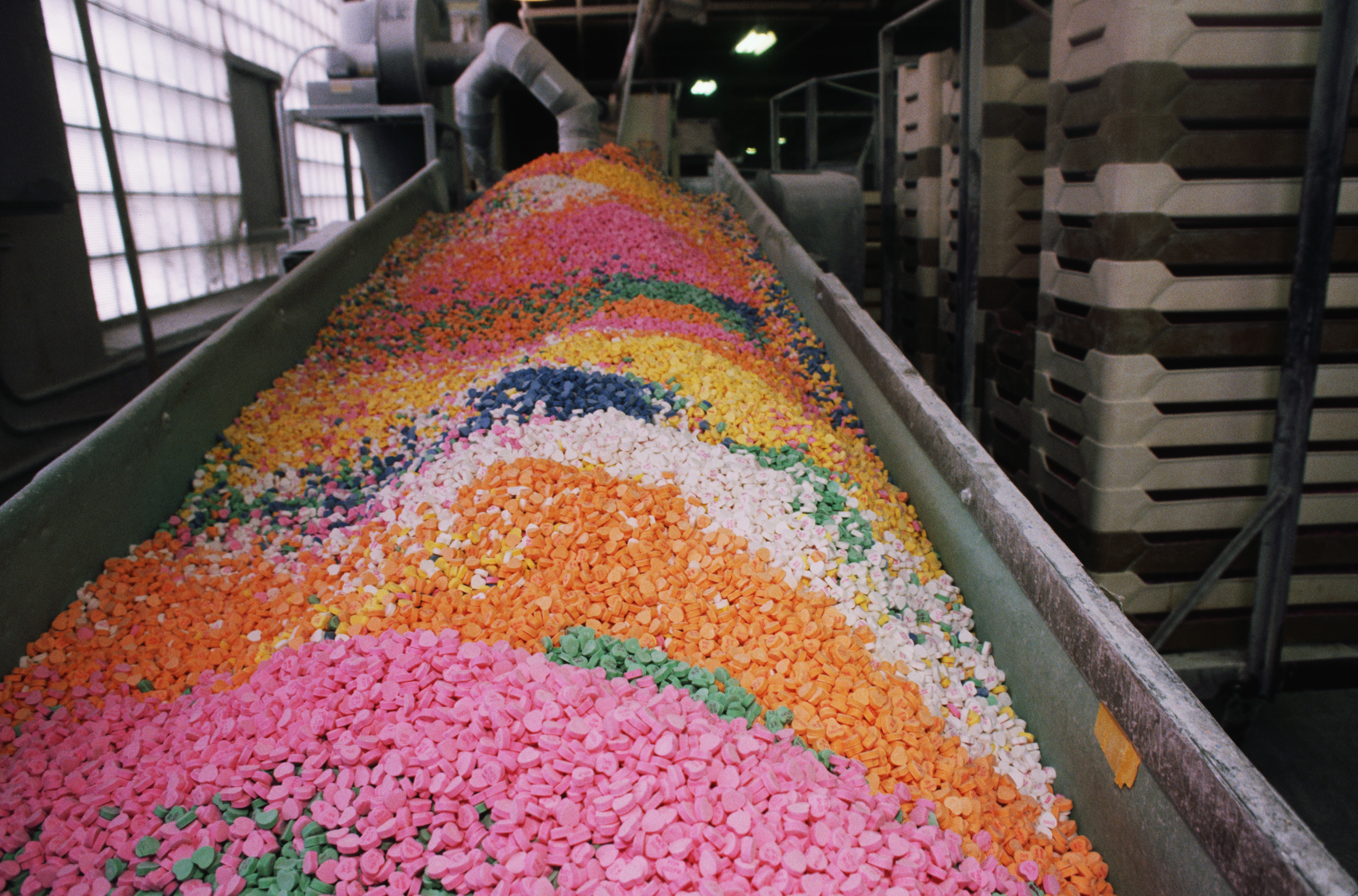 colorful-candy-hearts-at-factory - Valentine's Day ...