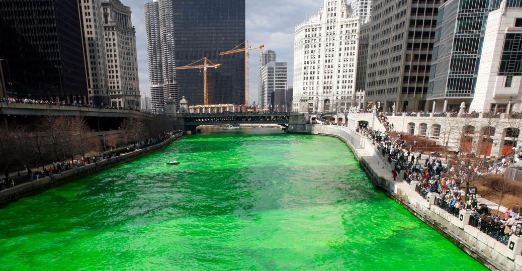 chicago river, st. patrick's day, st. patrick's day celebration, green, irish, chicago