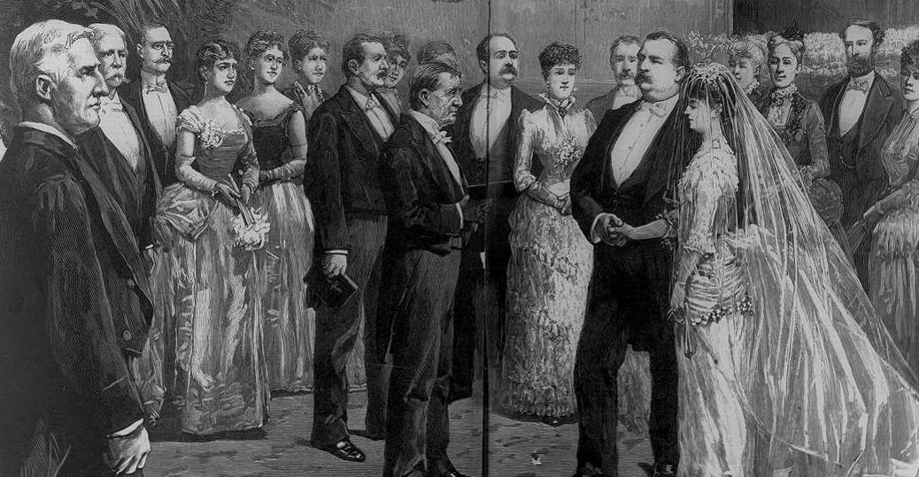 bachelor president, the white house, wedding, grover cleveland, president cleveland, frances folsom