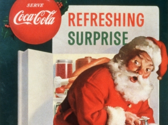 haddon sundblum, coca-cola, santa claus, stock up for the holidays, 1953, christmas