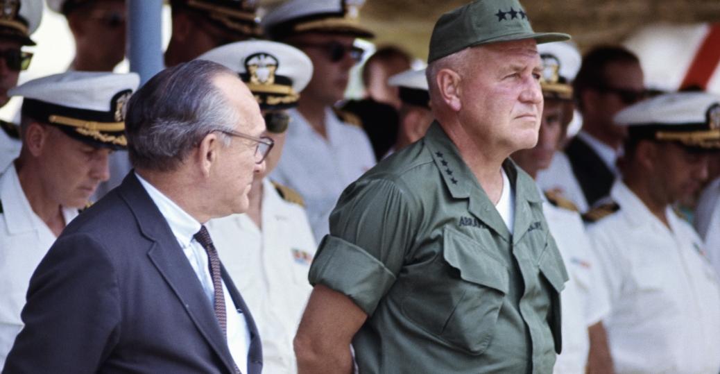 general creighton abrams, u.s. deputy ambassador samuel d. berger, navy river patrol boats, u.s. navy, south vietnamese navy, the vietnam war