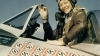american ace fighter pilot, captain fred j. christensen, p-47, thunderbolt fighter, 1944, world war II