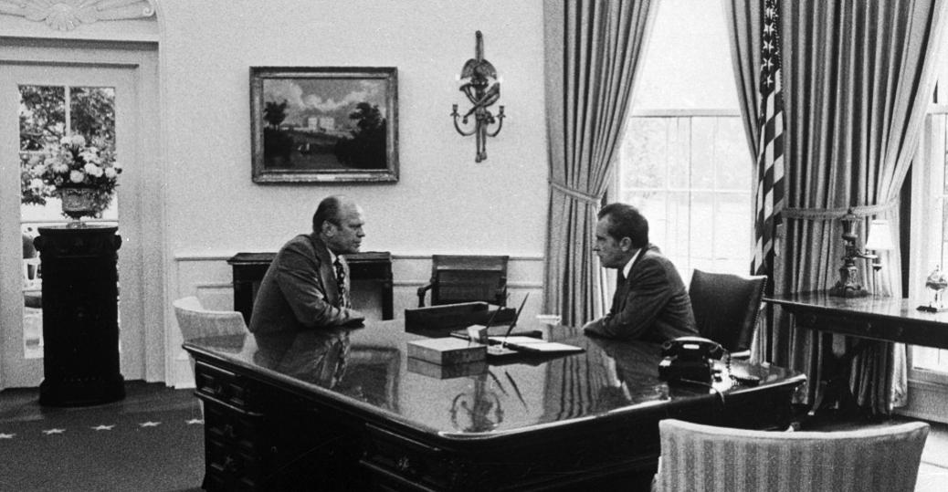 nixon office. 1974, Nixon, The Watergate Burglary Scandal, Impeachment, Gerald Ford Nixon Office E
