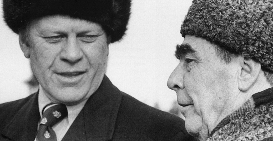 soviet leader, leonid brezhnev, the cold war, gerald ford