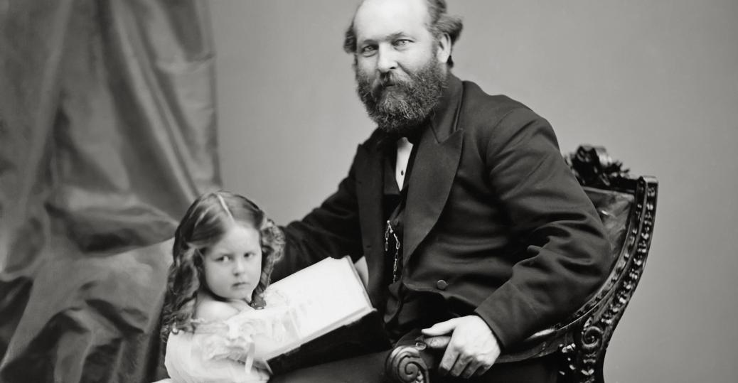 president ulysses s. grant, 1872, 1873, scandal, president james garfield, mollie garfield