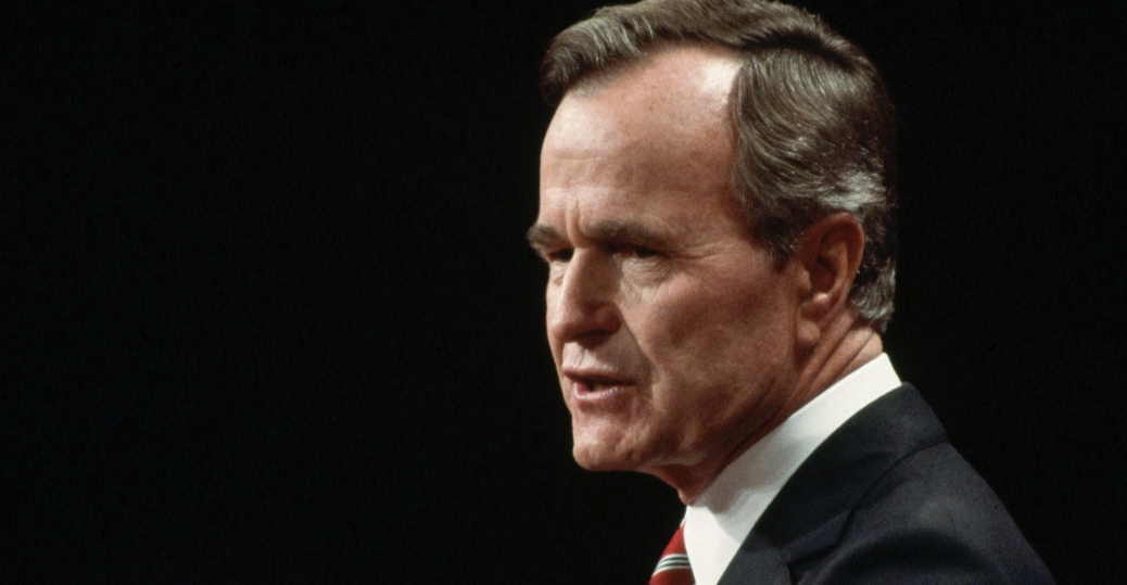 1988 presidential campaign, george bush, read my lips, no new taxes