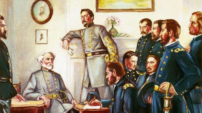 1865, appomattox court house, virginia, general lee, ulysses s. grant, general grant