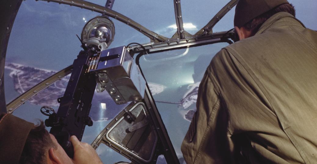 gunners, nose turret, b-17 bomber, world war II