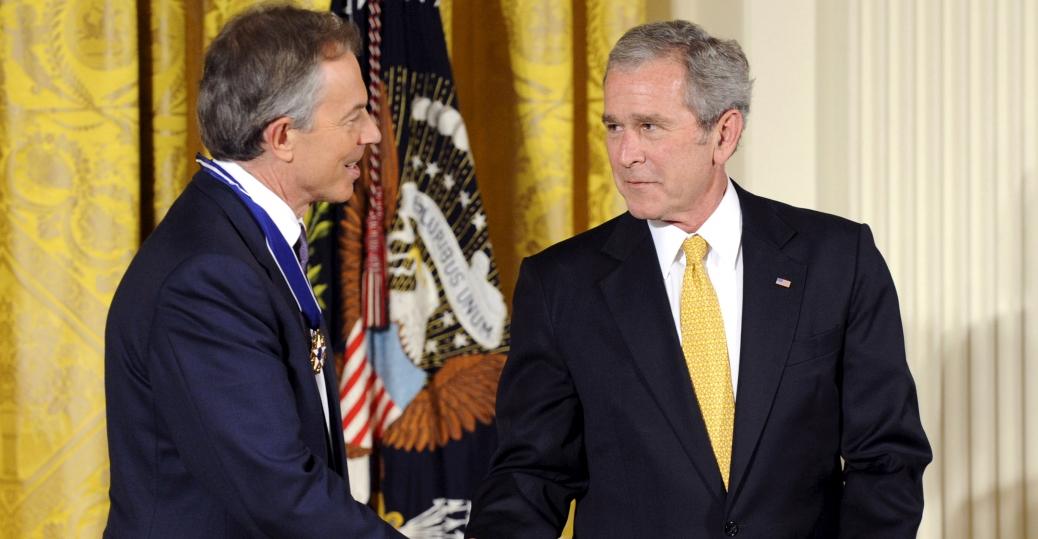 british prime minister, tony blair, iraq war, george w. bush