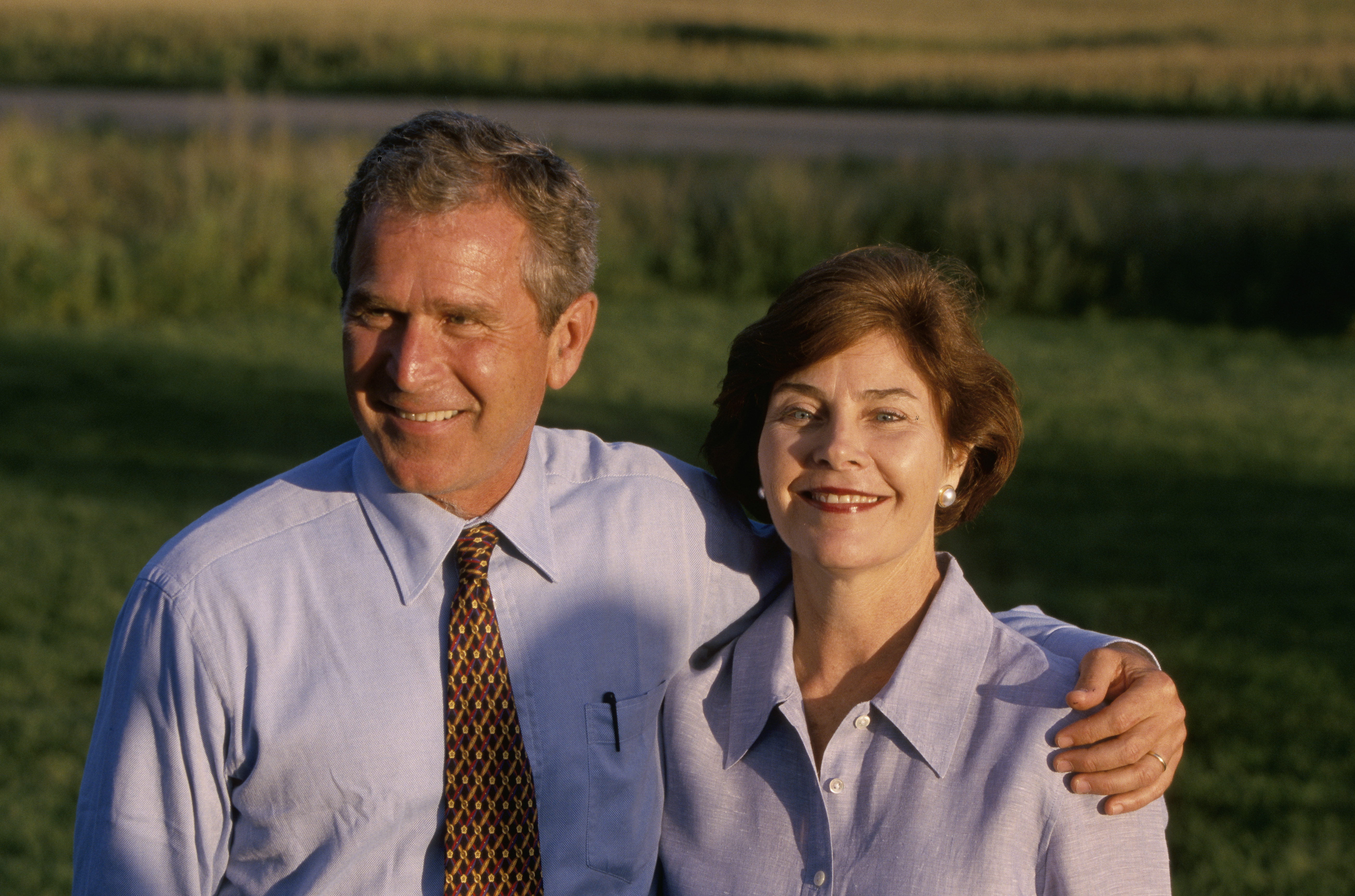 Sorry, George w and laura bush speaking