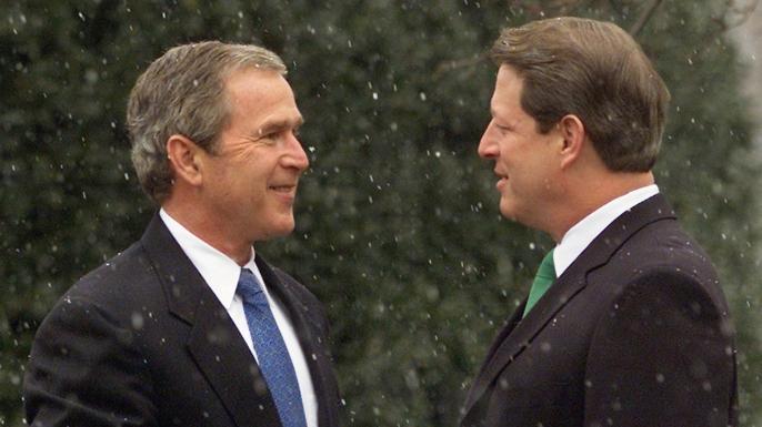 2000 presidential election, george w. bush, al gore, the supreme court, recount