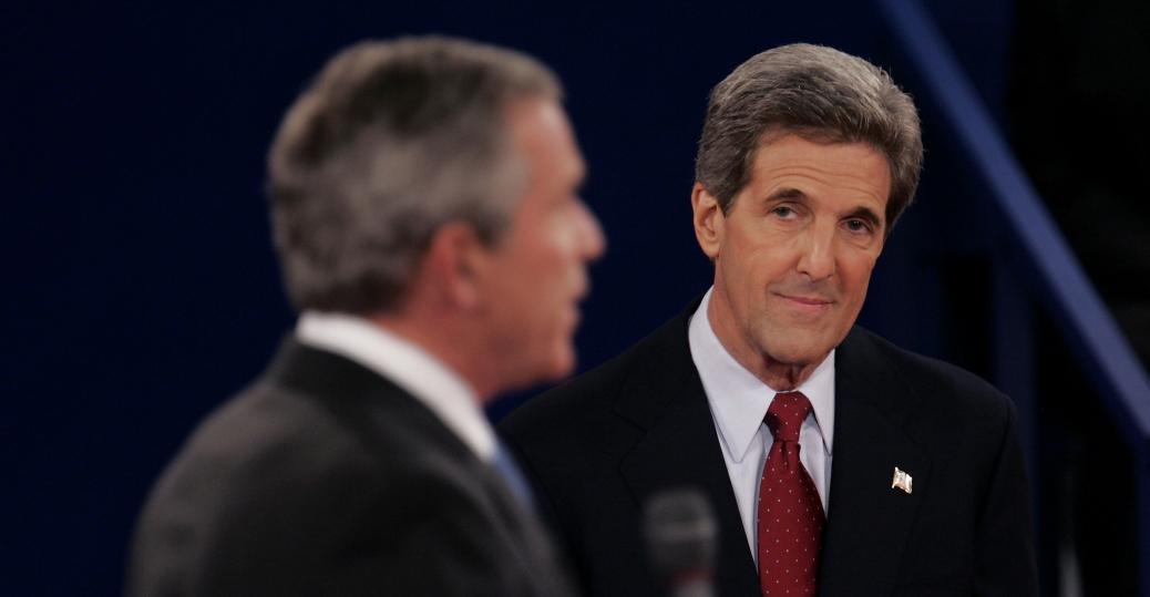 senator john kerry, george w. bush, 2004 presidential election