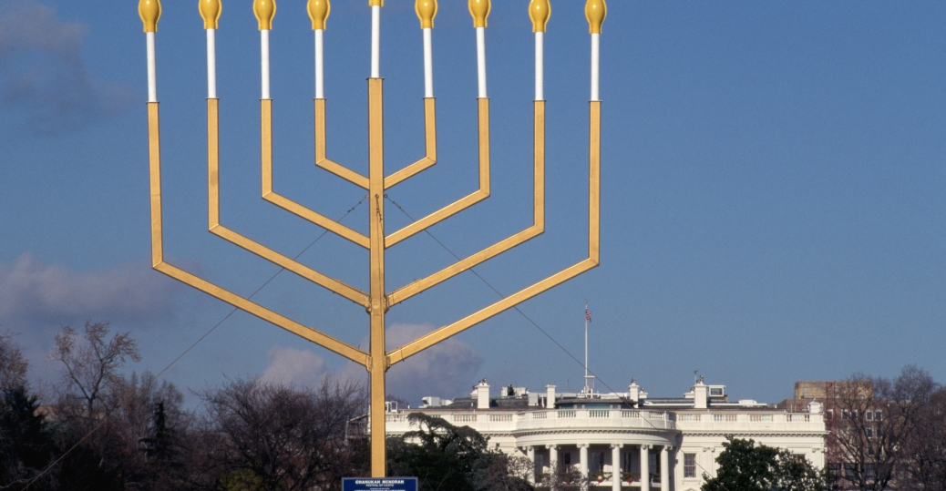 washington d.c., hanukkah, menorah, eight days, jews, jewish, holidays, the white house, ellipse, 165 BCE