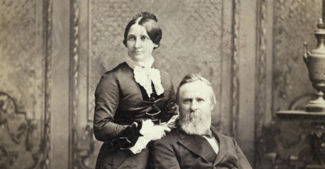 lucy ware webb hayes, president rutherford b. hayes, 1852