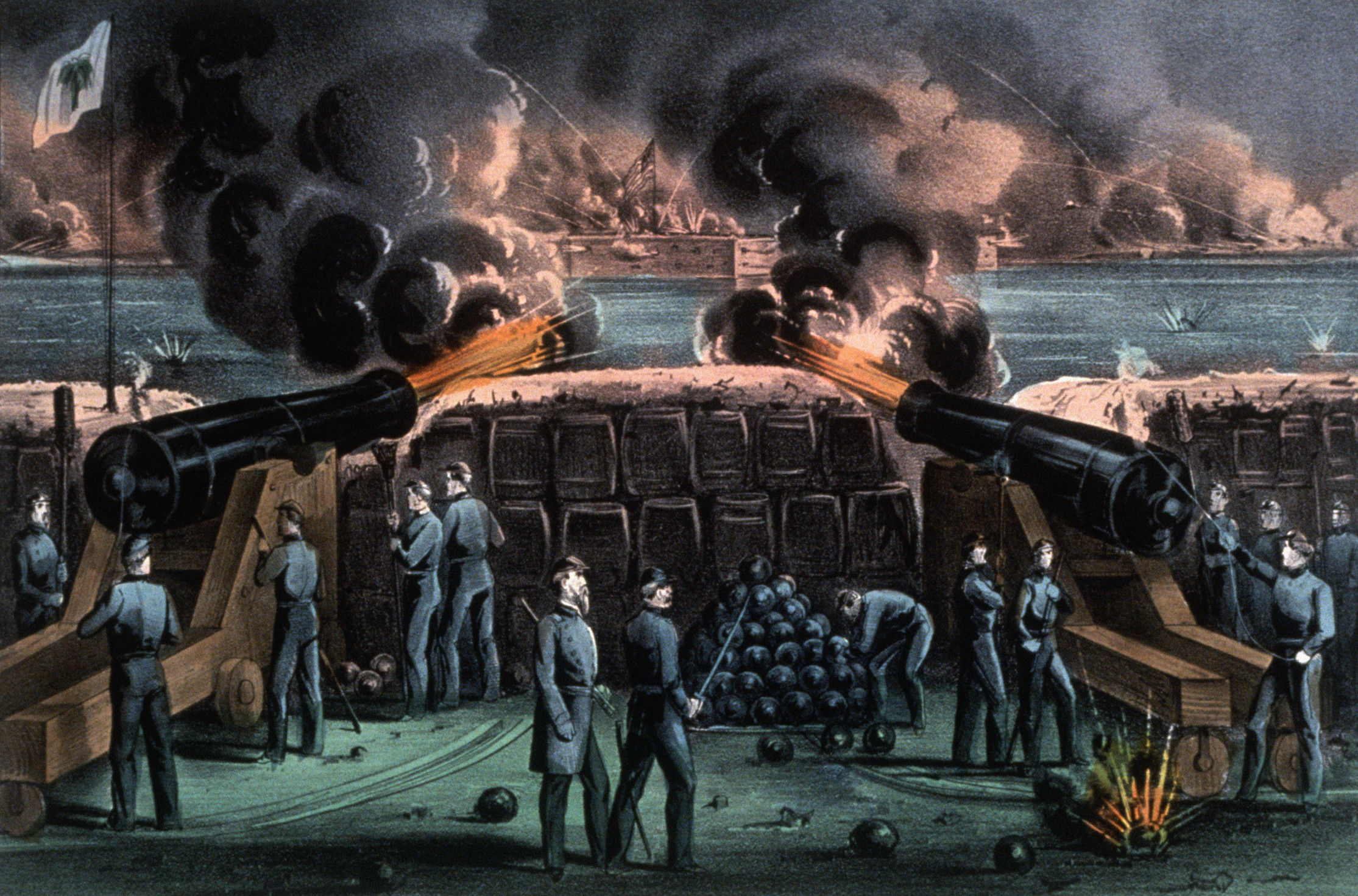 an analysis of the united states civil war and the capture of fort pickens and fort sumter Civil war events of 1861 [the at port royal entrance by united states squadron nov 8 -- capture of the rebel batteries by fort pickens and the ships-of-war.