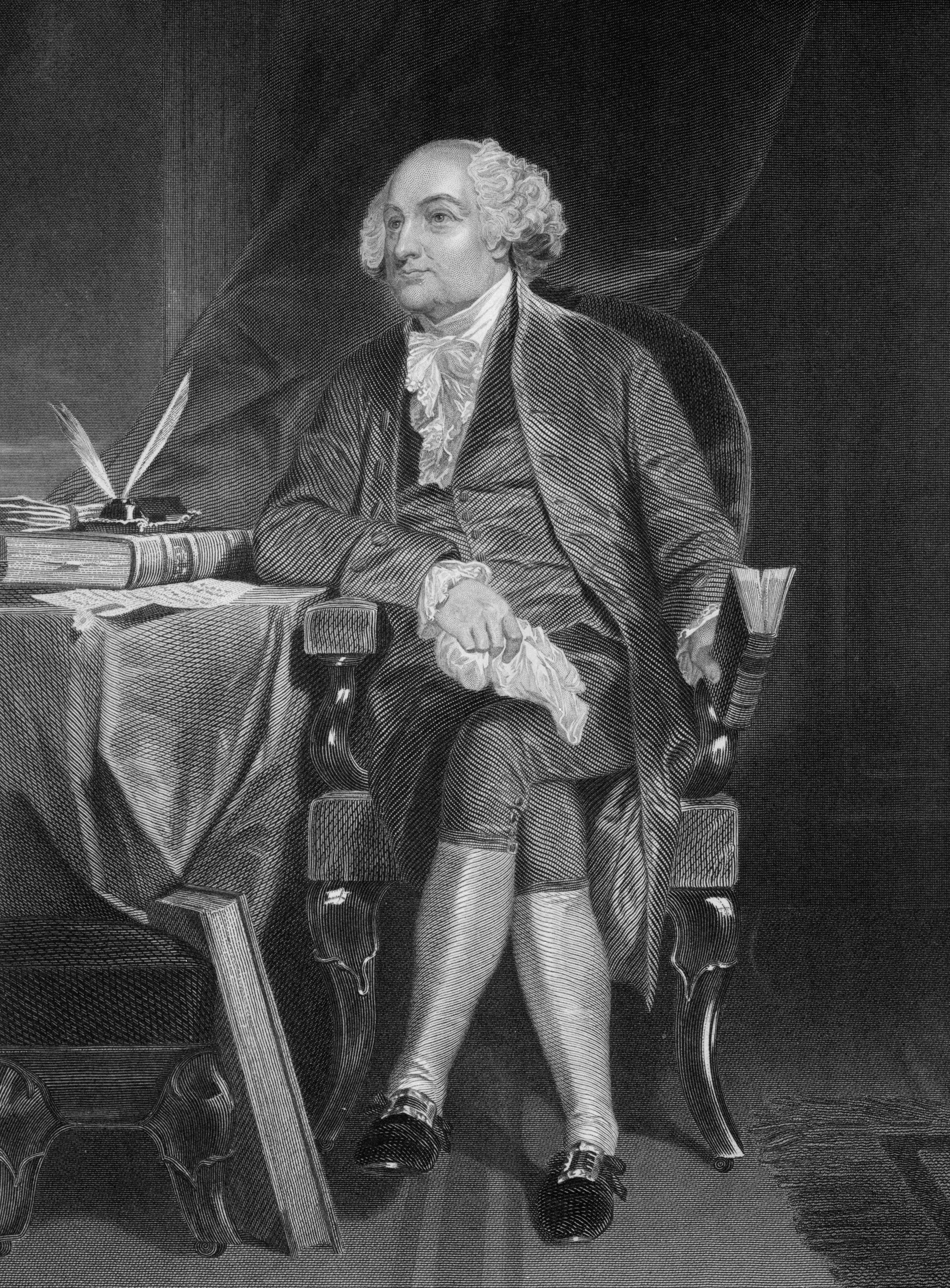 John Adams 1797 Second President Of The Untied States