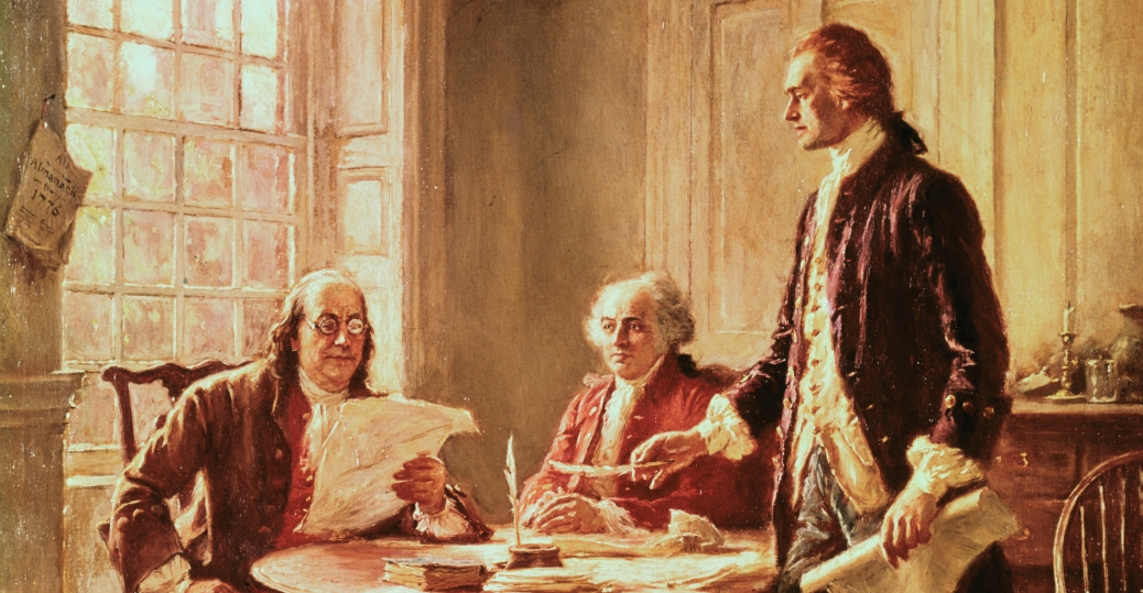 the colossus of independence, thomas jefferson, john adams, benjamin franklin, the declaration of independence