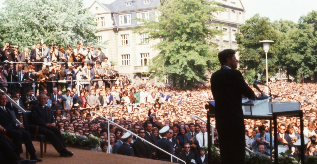 john f. kennedy, ich bin ein berliner, west germany, the berlin wall, 1963