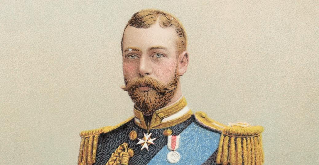 king george v, the british throne, 1910, king edward vii, world war I