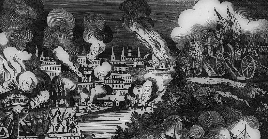 the british, washington d.c. attack, the war of 1812, president james madison