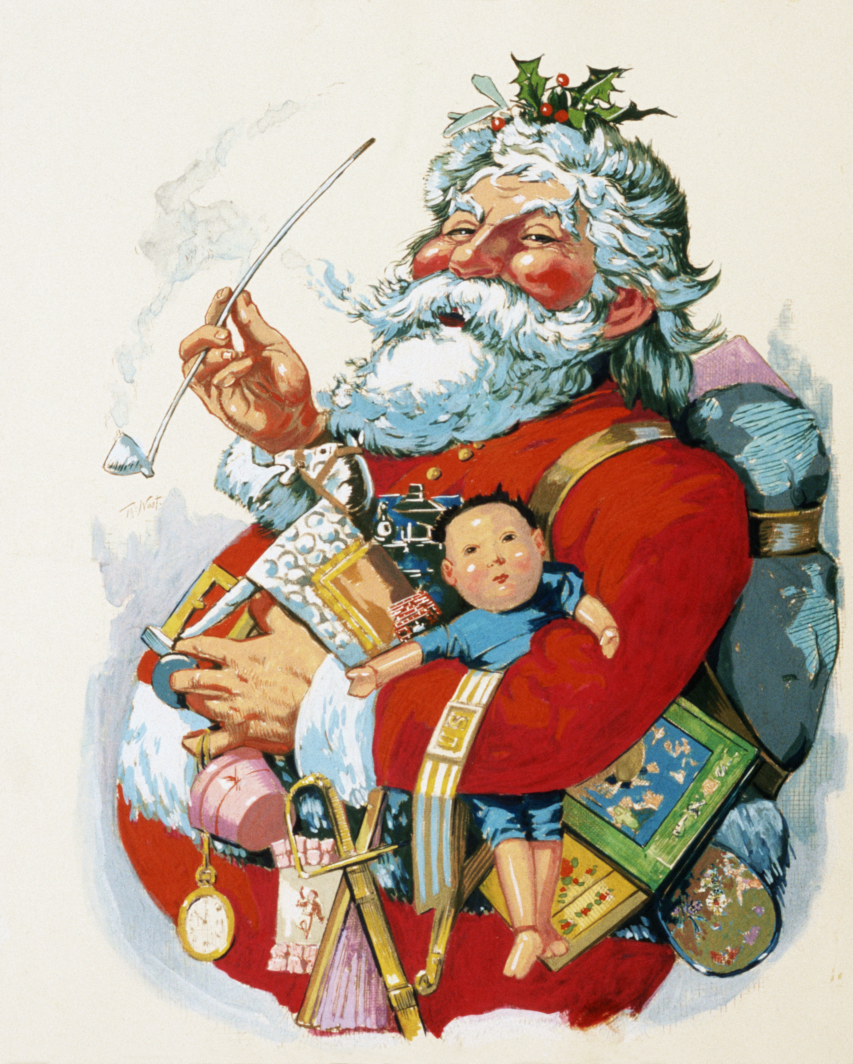 St. Nicholas Day Germany >> by-thomas-nast-3 - History of Santa Claus Pictures - History of Christmas - HISTORY.com