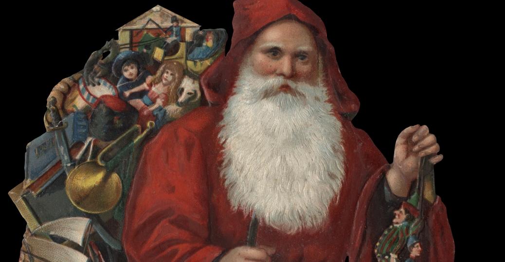 saint nicholas, sinter klaas, santa claus, saint nick, 19th century, christmas, 1880s, old fashioned santa