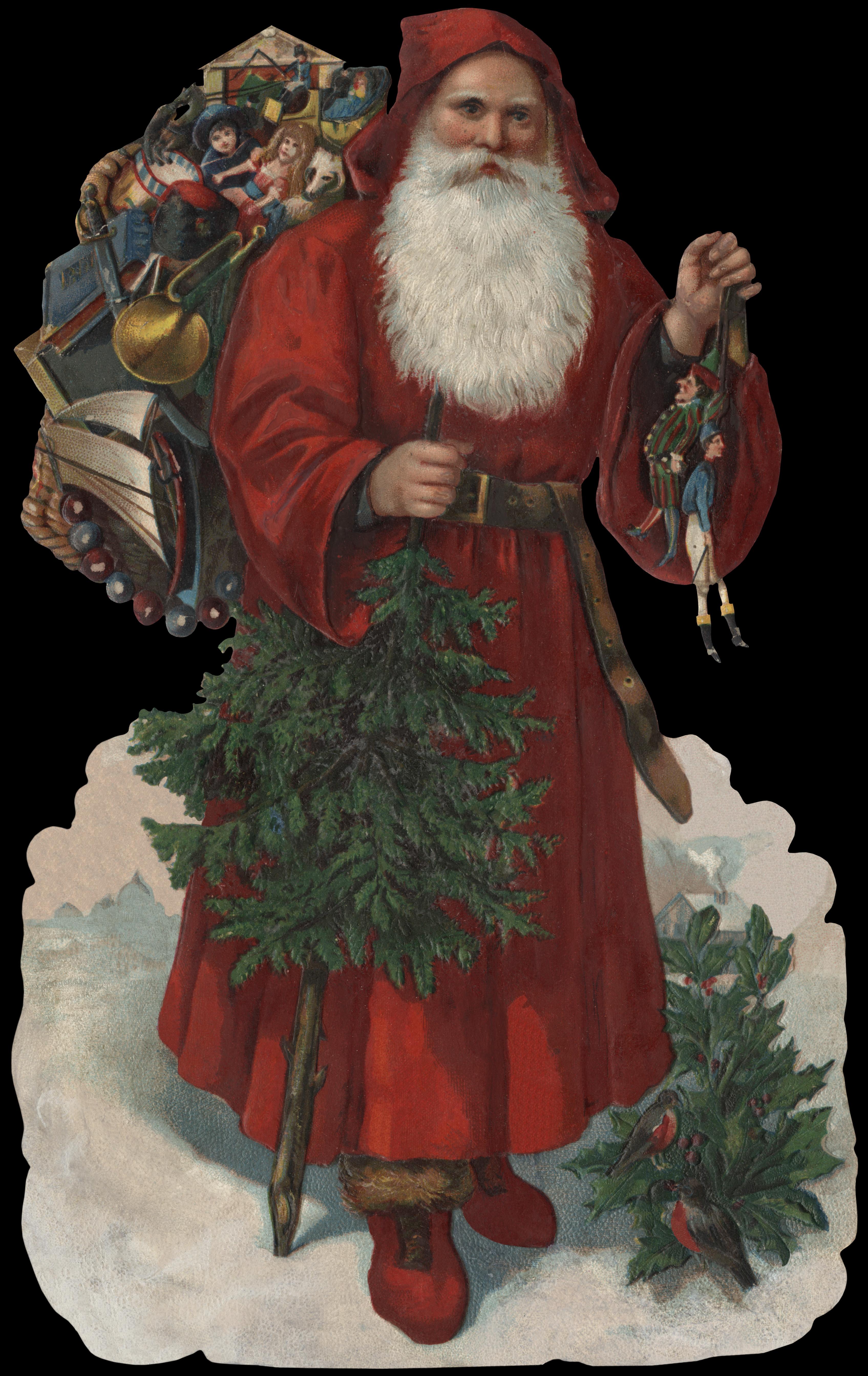 saint nicholas sinter klaas santa claus saint nick 19th century christmas - Santa And Christmas 2