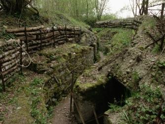 butte de vauquois, german trench and bunker, verdun, world war I, trench warfare