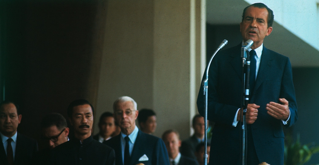 president richard nixon, saigon, dr. henry a. kissinger, cao ky, ellsworth bunker, the vietnam war