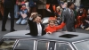 president ronald reagan, nancy reagan, presidential limousine, 1981 presidential inauguration, reagan's inauguration