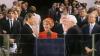 1981 presidential election, president ronald reagan, reagan's inauguration, chief justice warren burger, nancy reagan