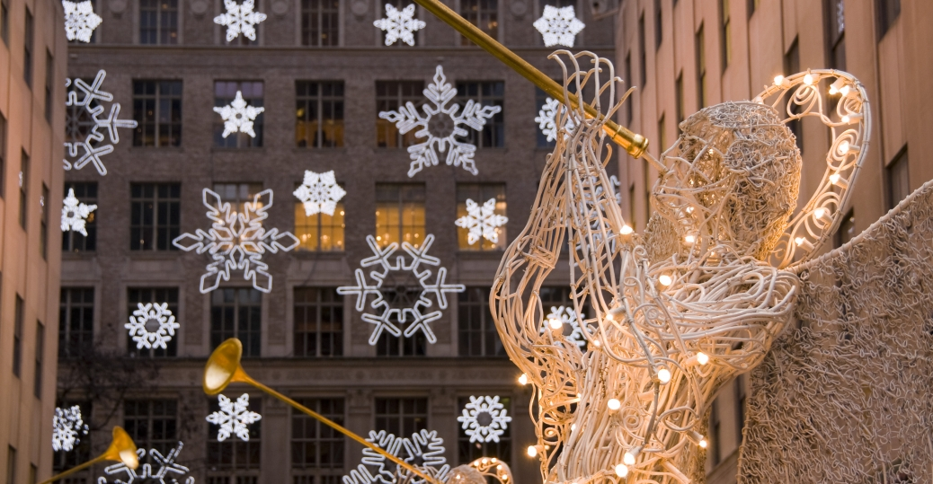 Captivating Rockefeller Center, Snowflakes, Saks Fifth Avenue, New York City, Christmas,  Decorations