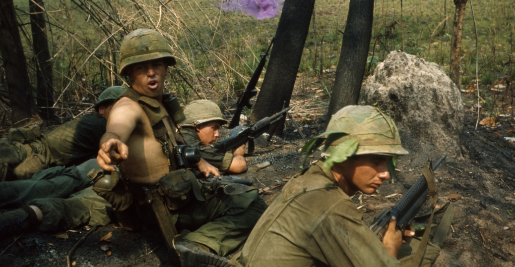 Us Marines Searching Tunnels For Viet Cong 2 Vietnam War