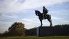 confederate general thomas jackson, bull run battlefield, battle of bull run, the civil war, union attacks, stonewall jackson, jackson statue