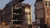 london, england, 1942, trafalgar square, german bombs, world war II, world war II damage