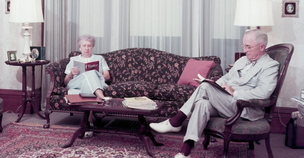 bess truman, harry truman, 1953, truman retired, independence missouri, december 26 1972