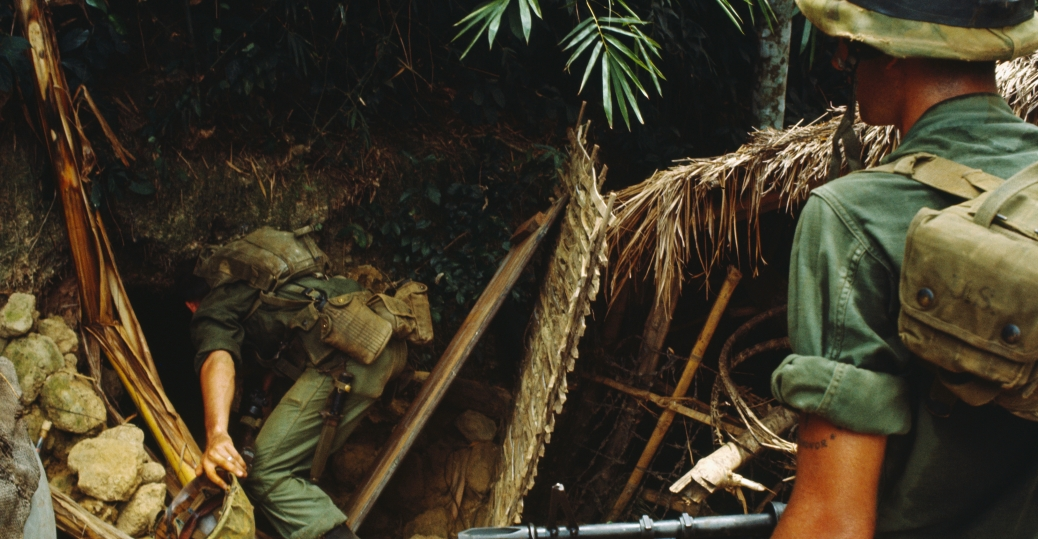 u.s. marines, viet cong activity, da nang, the vietnam war, vietnam, underground tunnels
