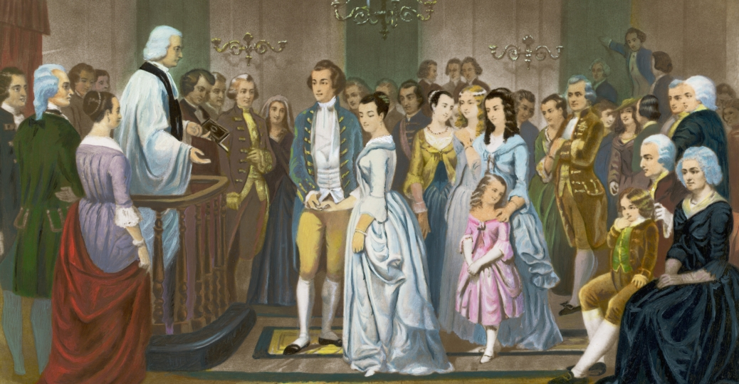 martha dandridge custis, george washington, january 6 1759, martha washington, marriage, wedding